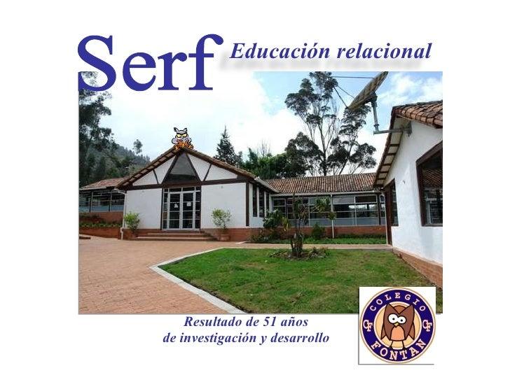 Resultado de 51 años  de investigación y desarrollo   Serf Educación relacional