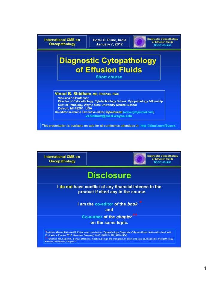 Diagnostic Cytopathology International CME on                           Hotel O, Pune, India                              ...