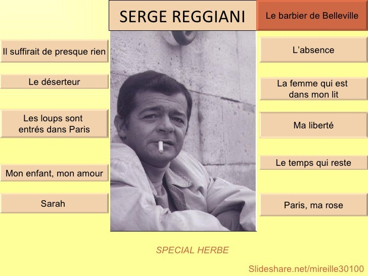 SERGE GRATUIT LE DESERTEUR TÉLÉCHARGER REGGIANI