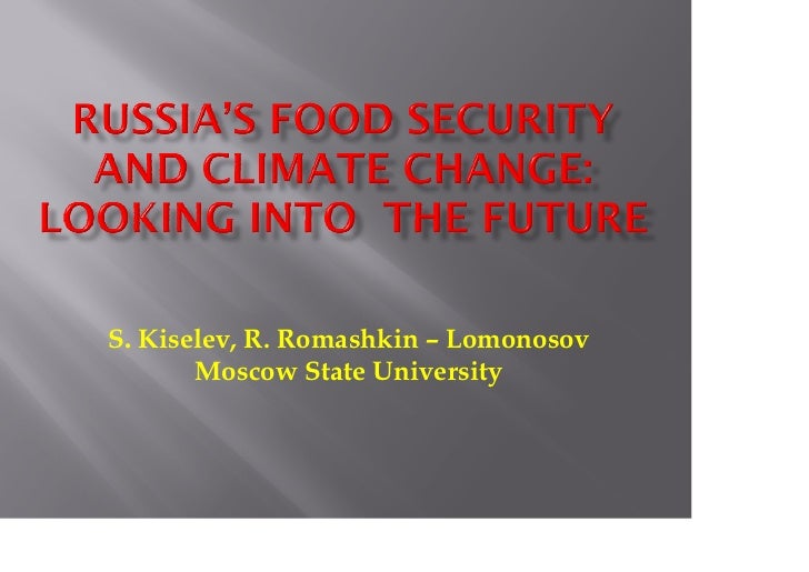 S. Kiselev, R. Romashkin – Lomonosov       Moscow State University
