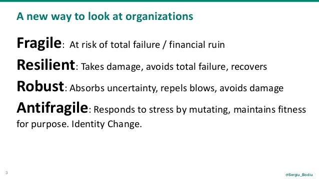 From resilient to antifragile - Chaos Engineering Primer DevSecCon Slide 3