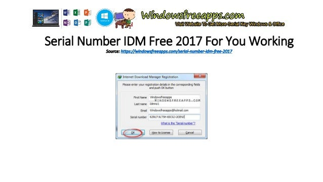 the free serial number of idm