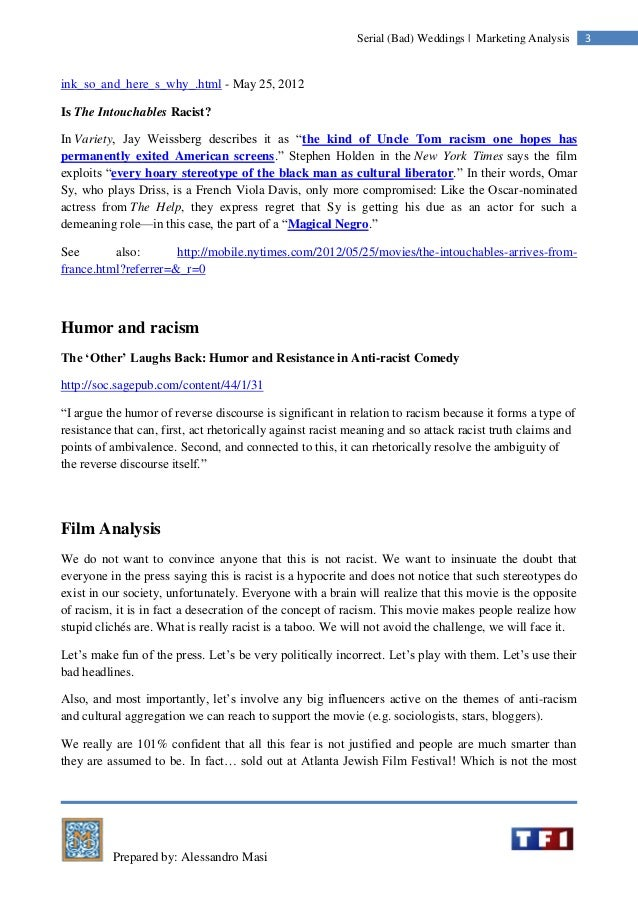 Prepared by: Alessandro Masi 3Serial (Bad) Weddings | Marketing Analysis ink_so_and_here_s_why_.html - May 25, 2012 Is The...