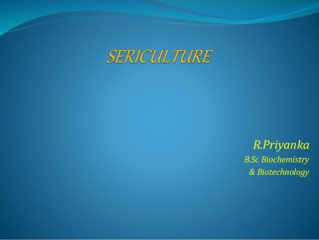 R.Priyanka B.Sc Biochemistry & Biotechnology