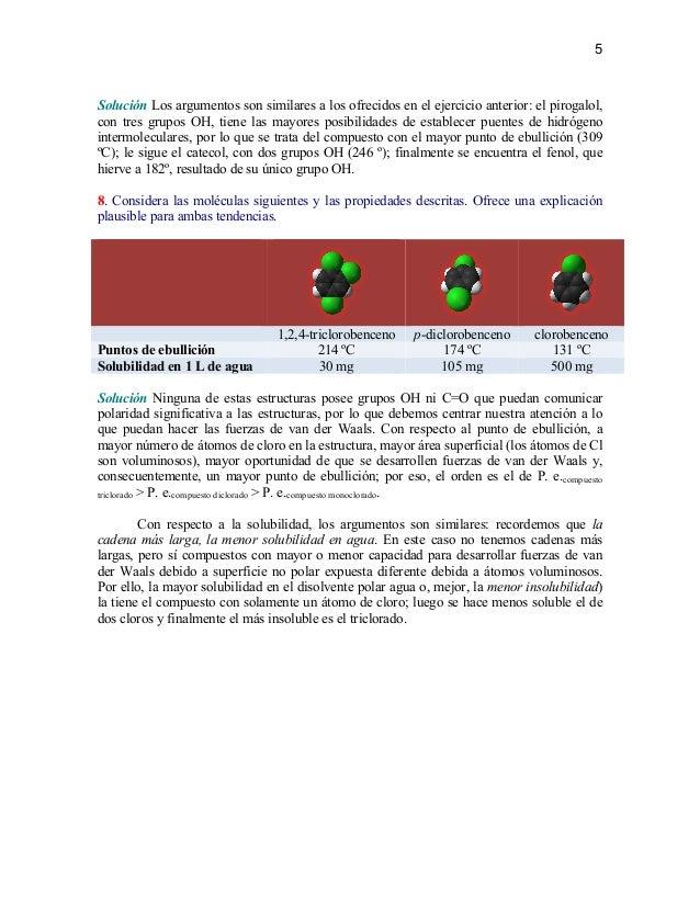 Serie de ejercicios sobre propiedades moleculares - Inmobiliaria serie 5 ...
