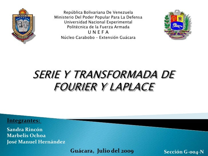 Serie Fourier/Transformada de laplace