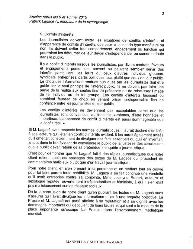 Série de P Lagacé sur la synergologie: La Presse mise en demeure par P Turchet Slide 3