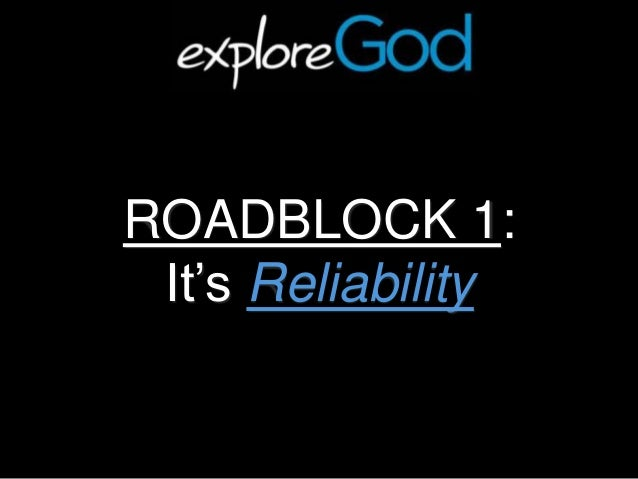 reliability and validity of the bible Bible verses related to reliability from the king james version (kjv) by relevance - sort by book order luke 16:10 - he that is faithful in that which is least is faithful also in much: and he that is unjust in the least is unjust also in much.