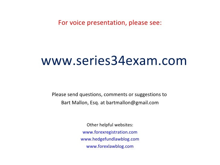 Series 34 forex exam