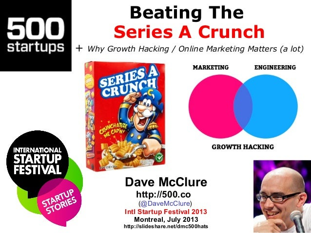 Beating The Series A Crunch + Why Growth Hacking / Online Marketing Matters (a lot) Dave McClure http://500.co (@DaveMcClu...