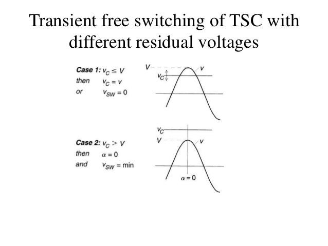 Transient free switching of TSC with different residual voltages