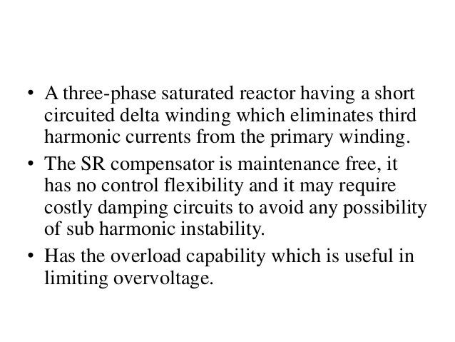 • A three-phase saturated reactor having a short circuited delta winding which eliminates third harmonic currents from the...