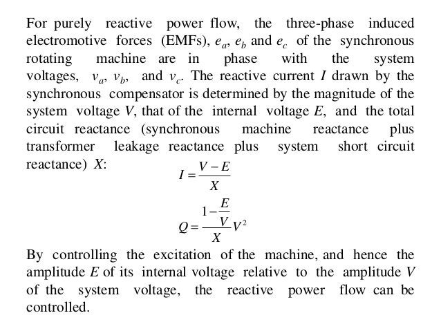 For purely reactive power flow, the three-phase induced electromotive forces (EMFs), ea, eb and ec of the synchronous rota...