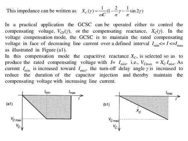 • In the impedance compensation mode, the GCSC is to maintain the maximum rated compensating reactance at any line current...