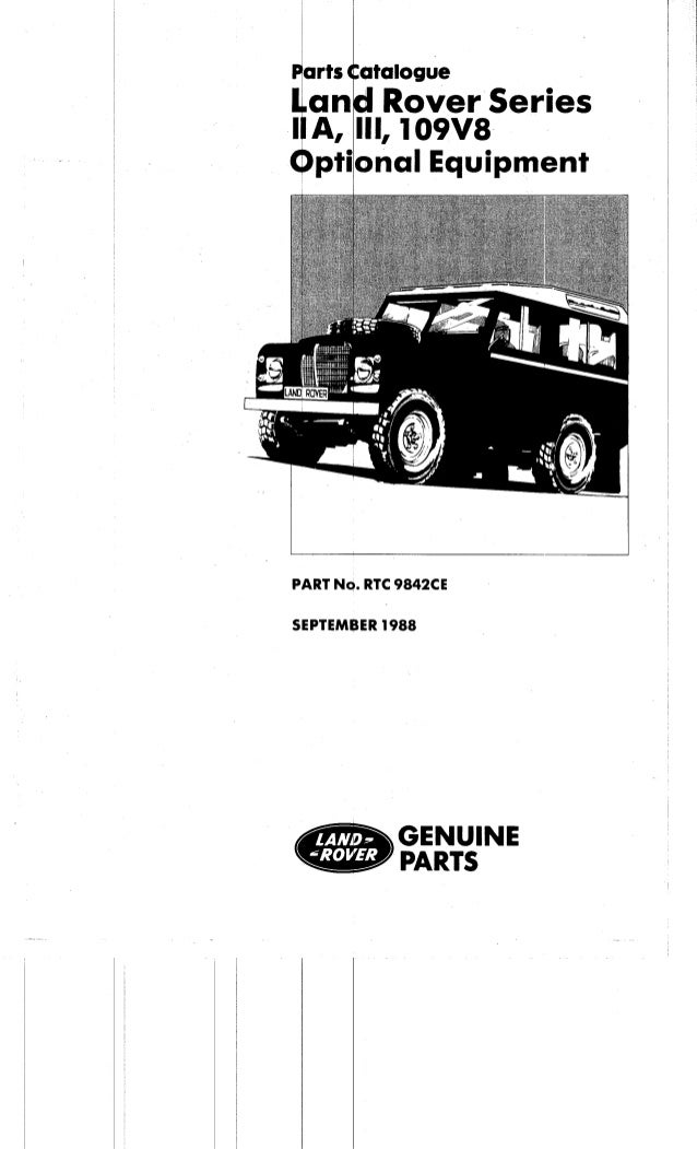 Series iii optional_parts_catalogue_1
