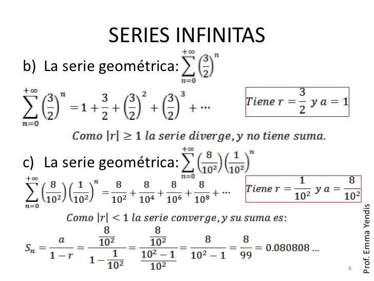 Resultado de imagen de Serie de sumas infinitas