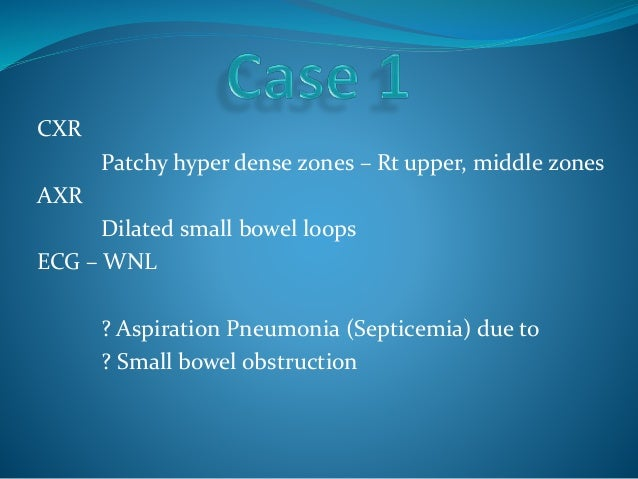Series Of Small Bowel Obstruction