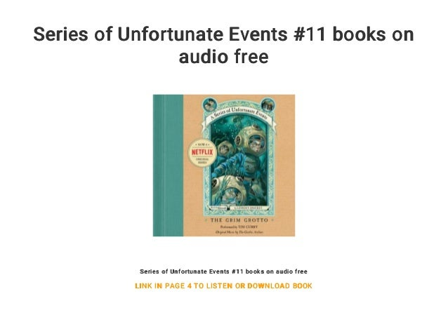 Series Of Unfortunate Events 11 Books On Audio Free