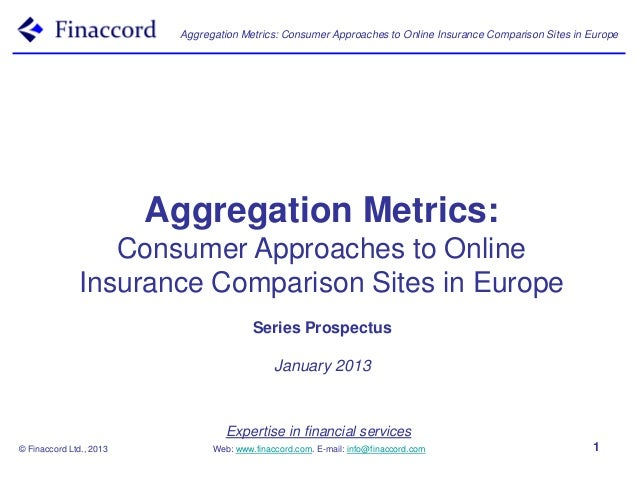 Aggregation Metrics: Consumer Approaches to Online Insurance Comparison Sites in Europe                         Aggregatio...