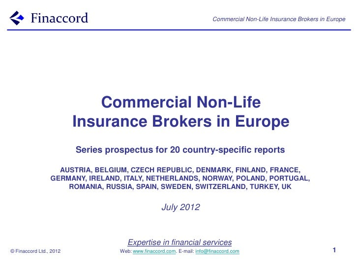 Commercial Non-Life Insurance Brokers in Europe                             Commercial Non-Life                         In...