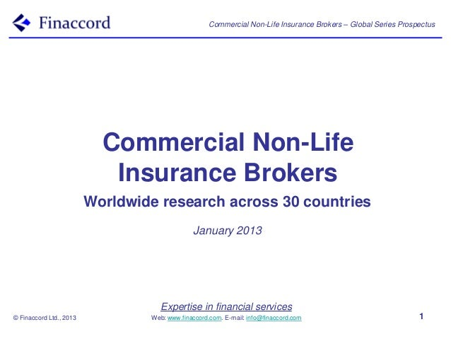 Commercial Non-Life Insurance Brokers – Global Series Prospectus                           Commercial Non-Life            ...