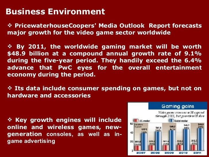 <ul><li>PricewaterhouseCoopers' Media Outlook  Report forecasts major growth for the video game sector worldwide </li></ul...