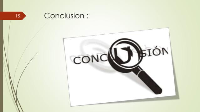 Conclusion :15