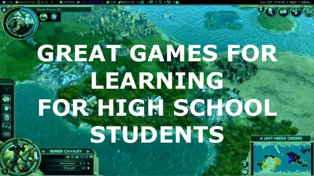 GREAT GAMES FOR LEARNING FOR HIGH SCHOOL STUDENTS