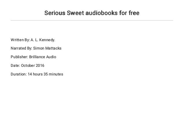 Serious Sweet Audiobooks For Free