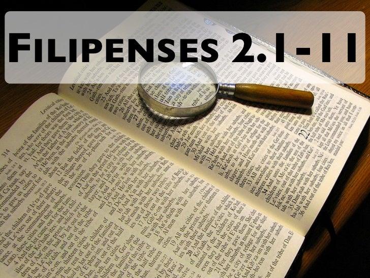 FILIPENSES 2.1-11