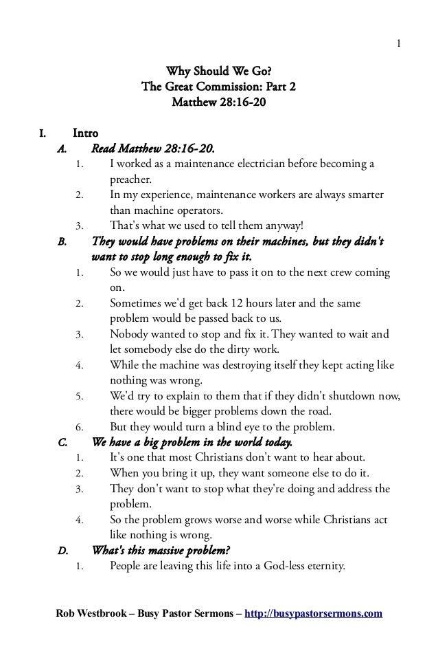 sermon template