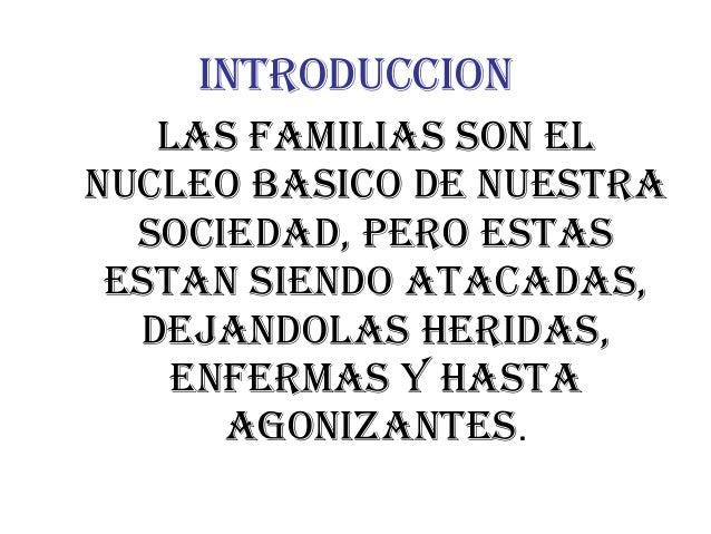 Familias cristianas en tiempo difíciles Slide 3