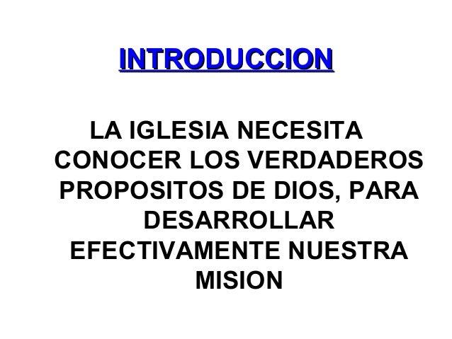 Los tres propositos de la Iglesia Slide 2