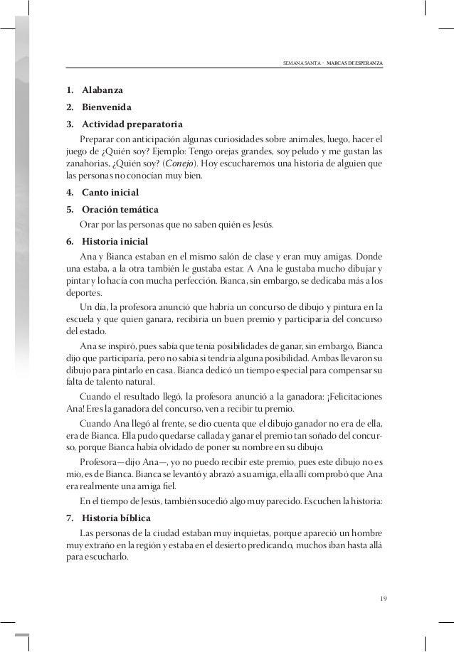 SEMANA SANTA - MARCAS DE ESPERANZA1. Bienvenida2. Alabanza3. Actividad preparatoria    Hacer pasar al frente a los niño...