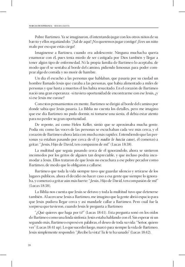 MARCAS DE ESPERANZA - SEMANA SANTA1. Alabanzas2. Bienvenida3. Actividad preparatoria    Ponerse de acuerdo de antemano ...