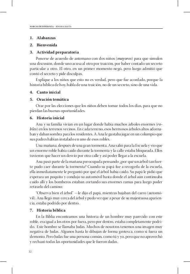 MARCAS DE ESPERANZA - SEMANA SANTA1. Alabanza2. Bienvenida3. Actividad preparatoria    Pida que dos personas hagan una ...