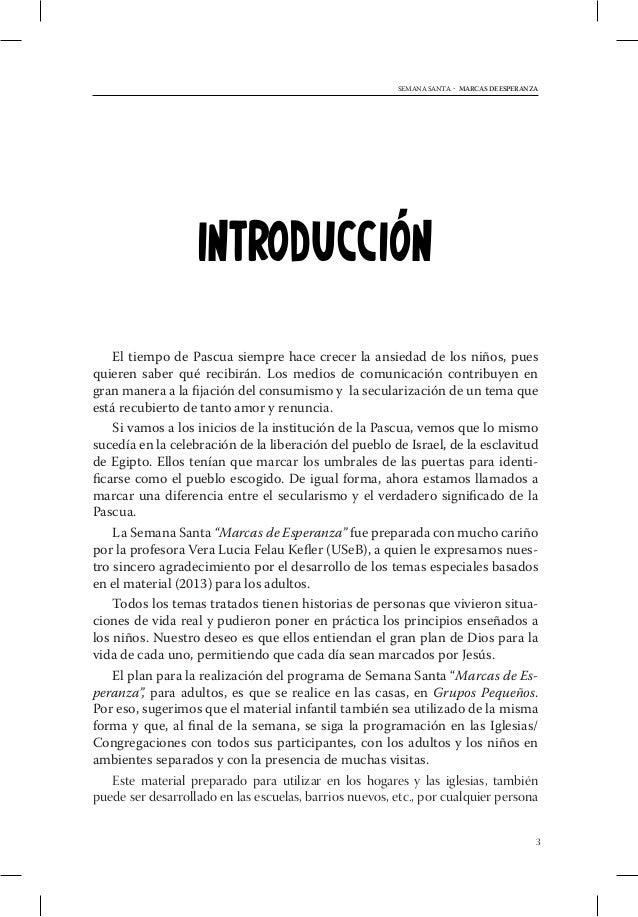 MARCAS DE ESPERANZA - SEMANA SANTA    Informe de Semana Santa Infantil - DSA                            (Modelo para la Ig...