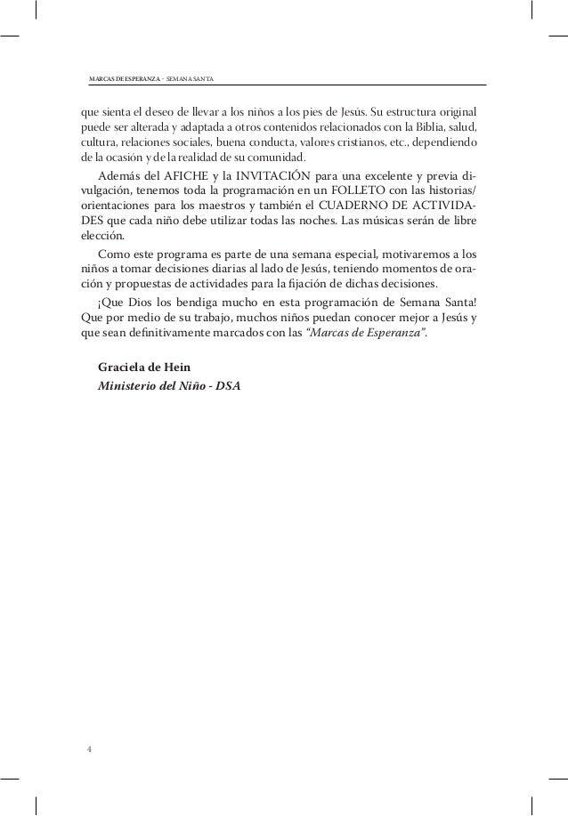 SEMANA SANTA - MARCAS DE ESPERANZA           RESUMEN DIARIO                  Objetivo      HistoriaDía Tema               ...
