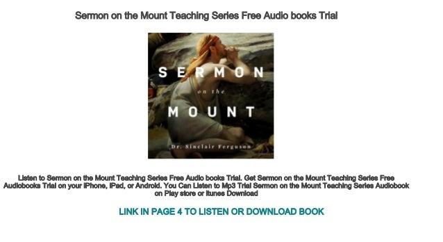 Sermon on the Mount Teaching Series Free Audio books Trial