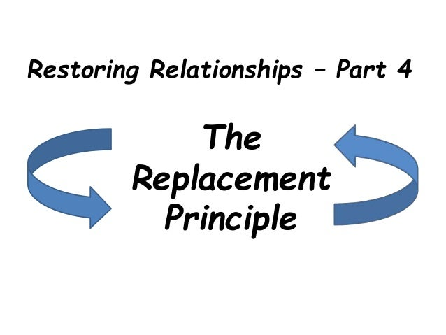 Restoring Relationships – Part 4 The Replacement Principle