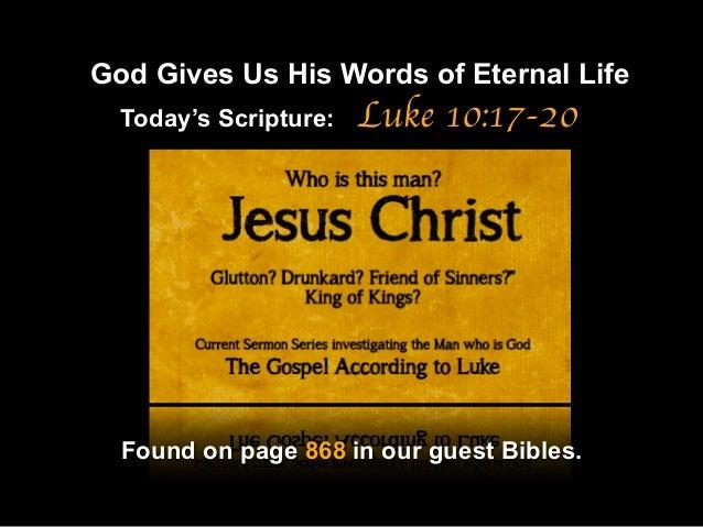"""Sermon Slide Deck: """"A Real Cause For Joy"""" (Luke 10:17-20) Slide 2"""