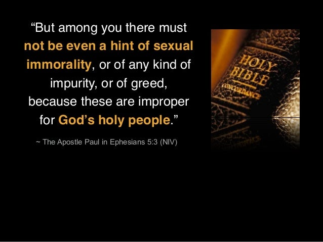 Flee from statistics of sexual immorality