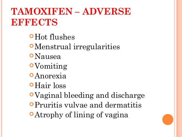 Tamoxifen Side Effects Nausea