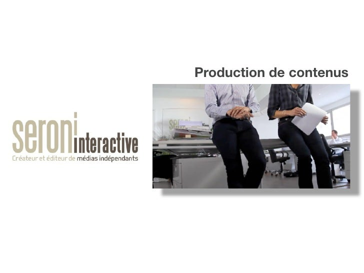Production de contenus