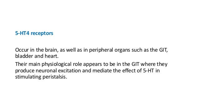5-Hydroxytryptamine Receptor Agonists Selective 5-HT1A agonists : 8-hydroxy-2-(di-npropylamino) tetralin (8-OH DPAT) highl...