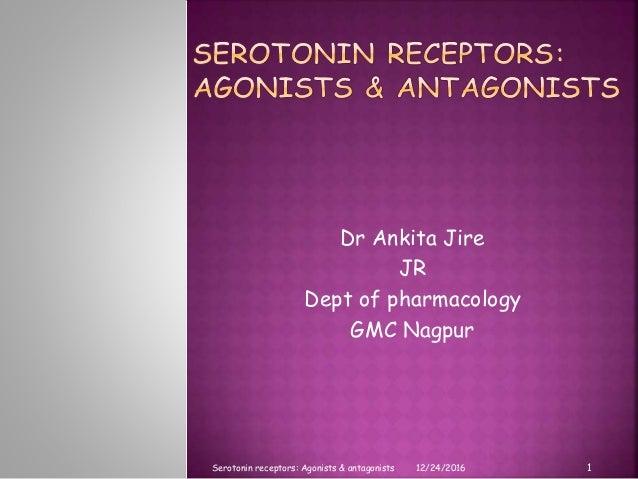Dr Ankita Jire JR Dept of pharmacology GMC Nagpur 12/24/2016 1Serotonin receptors: Agonists & antagonists