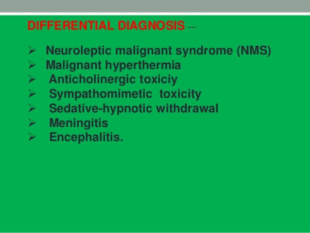 Neuroleptic malignant syndrome effexor