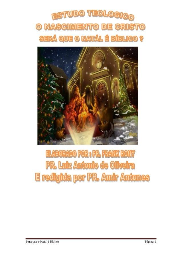 Será que o Natal é Bíblico Página 1