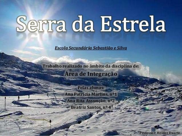 Escola Secundária Sebastião e Silva  Trabalho realizado no âmbito da disciplina de:  Área de Integração Pelas alunas: Ana ...