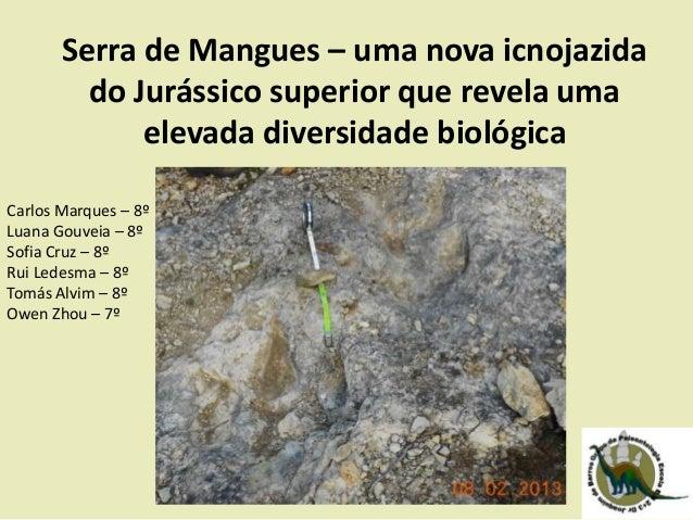 Serra de Mangues – uma nova icnojazida do Jurássico superior que revela uma elevada diversidade biológica Carlos Marques –...